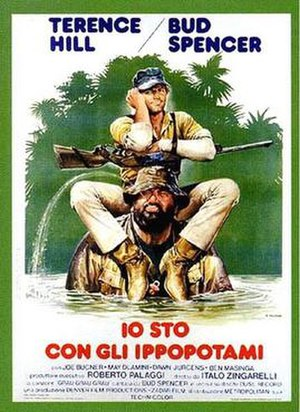 I'm for the Hippopotamus - Italian theatrical release poster by Renato Casaro