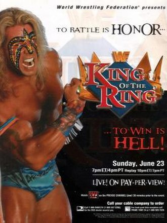 King of the Ring (1996) - Promotional poster featuring The Ultimate Warrior