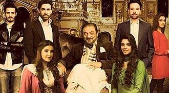 Diyar-e-Dil - Main cast of Diyar-e-Dil, from left to right: Wali Suhaib Khan, Suhaib Bakhtiyar Khan, Arjumand Suhaib Khan, Bakhytiyar Khan (middle), Ruhi Behroze Khan, Behroze Bakhtiyar Khan and Faarah Wali Khan