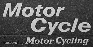 The Motor Cycle - Facsimile-masthead from internal pages of last magazine produced in 1967, part of editorial announcement of the merger