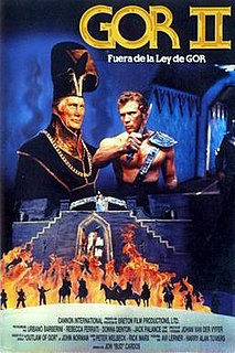 <i>Outlaw of Gor</i> 1989 science fiction B-film directed by John Cardos