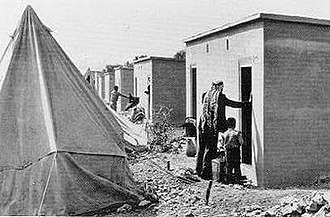 Palestinian refugees - Palestinian refugees in Aida Refugee Camp, Bethlehem, 1956.