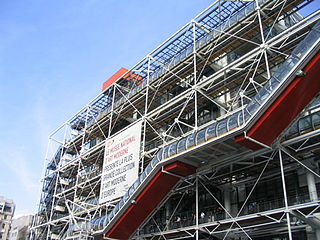 Centre Georges Pompidou contemporary art museum in Paris, France