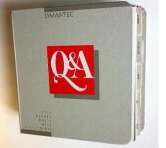 Q&A (Symantec) - Image: Q&A 1.0