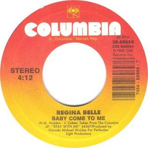 Baby Come to Me (Regina Belle song) - Image: Regina belle baby come to me columbia