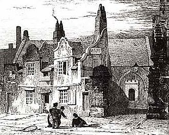 Royal Grammar School, Newcastle upon Tyne - The West Gate Road site in 1810