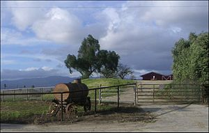 Los Angeles Pierce College - The western rural Farm Area, at Los Angeles Pierce College in Woodland Hills.