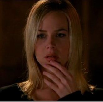 """Darla (Buffy the Vampire Slayer) - Julie Benz as Darla in the Angel episode """"The Trial"""", after learning she will die from Syphilitic aortitis, a disease she had before becoming a vampire."""