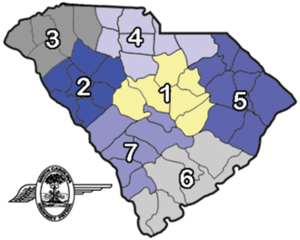 South Carolina Highway Patrol - Image: SC Highway Patrol Troop map