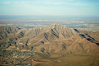 Franklin Mountains (Texas) - Image: S Franklin 2