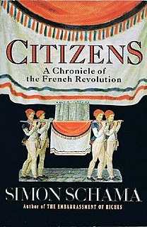 <i>Citizens: A Chronicle of the French Revolution</i> book by Simon Schama