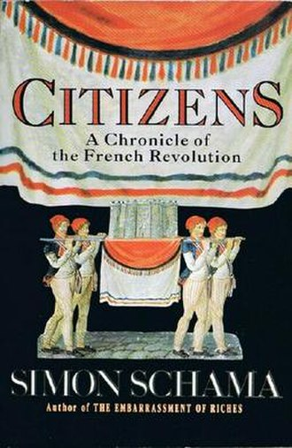 Citizens: A Chronicle of the French Revolution - Image: Simon Schama, Citizens, cover