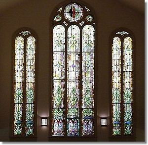First Presbyterian Church (Champaign, Illinois) - Stained glass in the Upper Room sanctuary