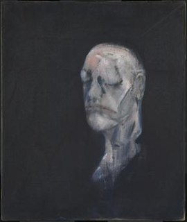 Study for Portrait II (After the Life Mask of William Blake) painting by Francis Bacon
