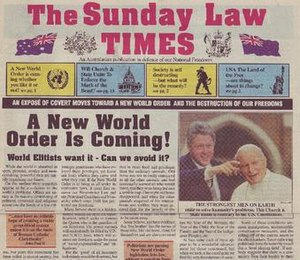 Seventh-day Adventist eschatology - Image: Sunday Law Times 01