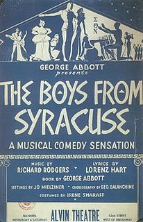 <i>The Boys from Syracuse</i> 1938 musical by Richard Rodgers and Lorenz Hart