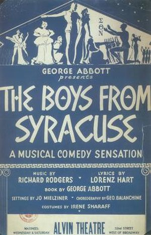 The Boys from Syracuse - Original 1938 Poster