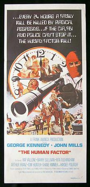 """The """"Human"""" Factor (1975 film) - Theatrical poster"""