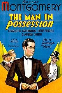 <i>The Man in Possession</i> 1931 film