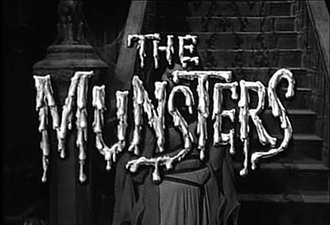 The Munsters - Season One opening from The Munsters, with Yvonne De Carlo behind the title.