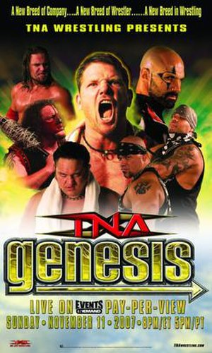 Genesis (2007) - Promotional poster featuring various TNA wrestlers