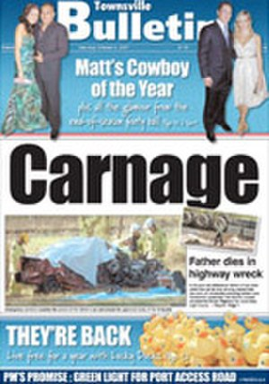 Townsville Bulletin - Image: Townsvillebulletinfr ont