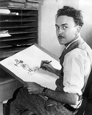Ub Iwerks - A publicity photograph (circa 1929) of Ub Iwerks and his most famous co-creation, Mickey Mouse