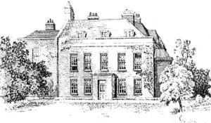Upper Flask - The building as sketched by Frederick Adcock, around 1912.