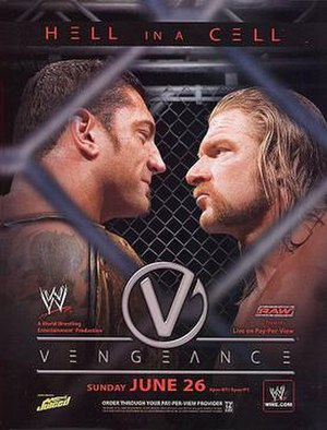 Vengeance (2005) - Promotional poster featuring Batista and Triple H
