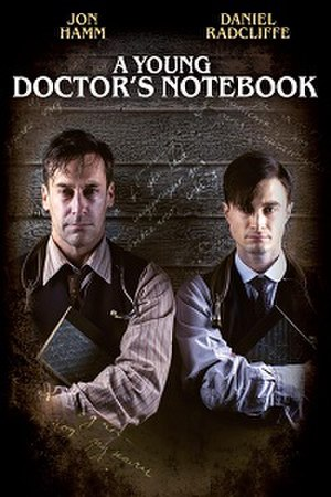 A Young Doctor's Notebook (TV series) - Series one DVD cover, featuring Hamm (left) and Radcliffe (right)