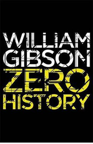 Zero History - Cover of the United Kingdom edition