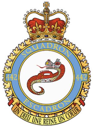 442 Transport and Rescue Squadron - 442 Squadron badge