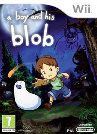 A Boy and His Blob - European cover art