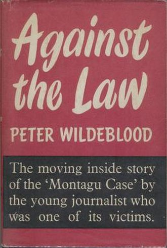 Peter Wildeblood - Cover of the first edition of Against the Law (1955)