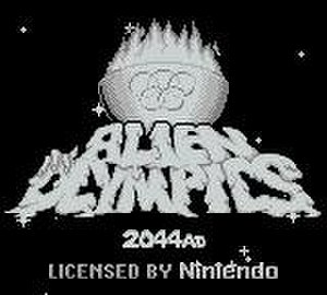 Alien Olympics 2044 AD - Game Boy title screen