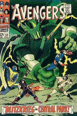 Avengers #45 (October 1968). Art by Don Heck.