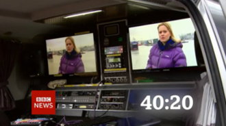 BBC News (TV channel) - The countdown since 2005 has shown the elements of journalism and production involved in bringing news stories to air (2013 version shown).