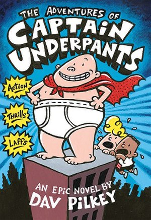 The first Captain Underpants book.