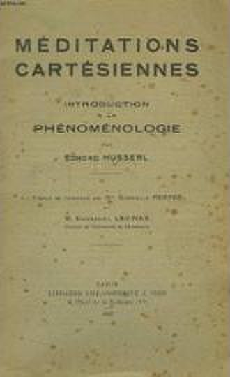 Cartesian Meditations - Cover of the French edition