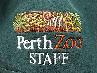 Department of Biodiversity, Conservation and Attractions (Western Australia) - Perth Zoo chest logo on a staff fleece, 2018