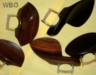 Chinrest - Most common models of chinrests in ebony and rosewood