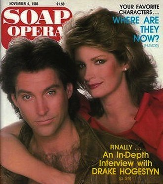 John Black (Days of Our Lives) - Drake Hogestyn as Roman, with Deidre Hall's Marlena on the cover of Soap Opera Digest in 1986.