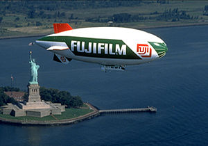George Spyrou - A Fujifilm airship over the Statue of Liberty.
