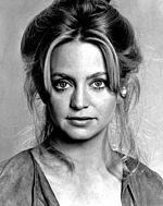 Nigrablanka diskonigfoto de Goldie Hawn.