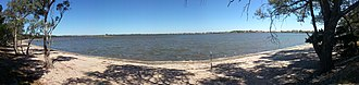 Horsham, Victoria - Panorama of Green Lake located 10 km southeast at Bungalally is one of several large lakes in the Horsham district