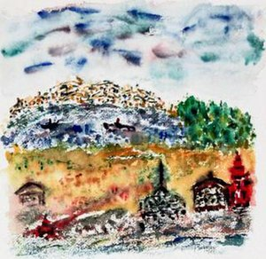 Henry Miller - A 1957 watercolor by Miller.