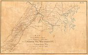 One of Hotchkiss's maps: Valley Campaign of 1864 for Jubal Early