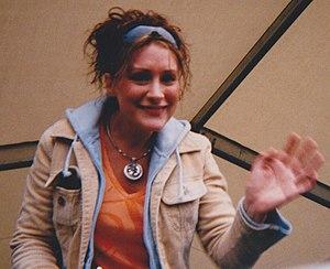 Jane Allsop - Image: Jane Allsop waving