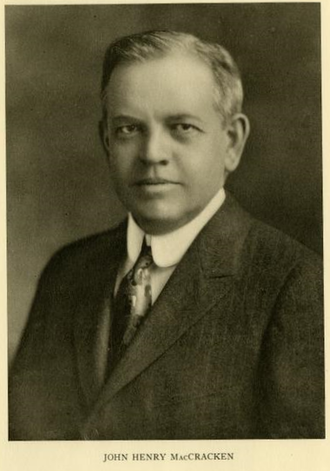 John Henry MacCracken - MacCracken in 1915 at the start of his term at Lafayette