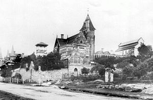 Annandale, New South Wales - Johnston Street, Annandale, circa 1880s showing The Abbey
